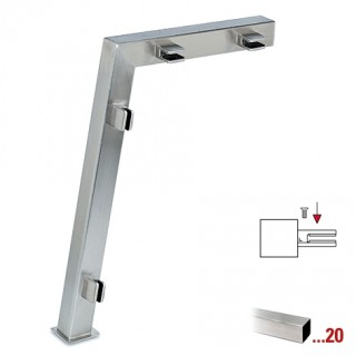 RVS design linker staander, model 122, 35 x 35 mm