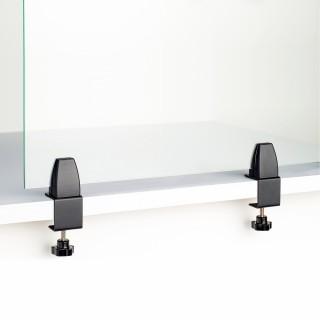 Mobiele baliescherm klemstar mat zwart