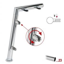"""Chroom design linker staander, model 121, Ø 25,4 mm (1"""")"""