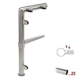 """Chroom design linker staander, model 131, Ø 25,4 mm (1"""")"""