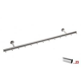 Chroom design kapstok 1000 mm Ø 38,1 mm, model 710