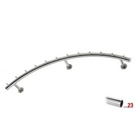 Chroom design kapstok 1250 mm Ø 38,1 mm, model 712