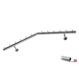 RVS design kapstok 750 mm Ø 38,1 mm, model 714