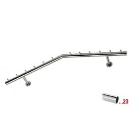 Chroom design kapstok 750 mm Ø 38,1 mm, model 714