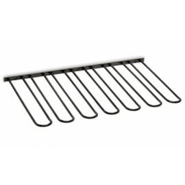 Antraciet design glazenhouder 7 rails, L 300 mm