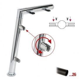 """Antraciet design midden staander, model 121, Ø 38,1 mm (1,5"""")"""
