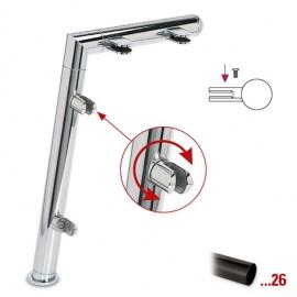 """Antraciet design rechter staander, model 121, Ø 38,1 mm (1,5"""")"""
