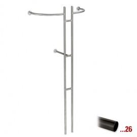 Antraciet design kapstok Ø 25,4 mm, model 720