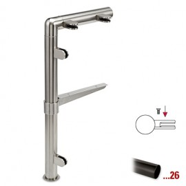 "Antraciet design linker staander, model 131, Ø 25,4 mm (1"")"