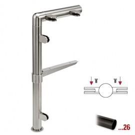 """Antraciet design midden staander, model 131, Ø 25,4 mm (1"""")"""