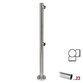"""Chroom design hoekstaander 90° Ø 50,8 mm (2"""") voor Geleidingssysteem 832"""