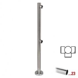 """Chroom design T-staander Ø 50,8 mm (2"""") voor Geleidingssysteem 832"""