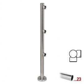 """Chroom design hoekstaander 90° Ø 50,8 mm (2"""") voor Geleidingssysteem 833"""