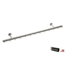 Antraciet design kapstok 750 mm Ø 38,1 mm, model 710