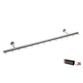 Antraciet design kapstok 1000 mm Ø 38,1 mm, model 710
