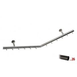 Antraciet design kapstok 1250 mm Ø 38,1 mm, model 713