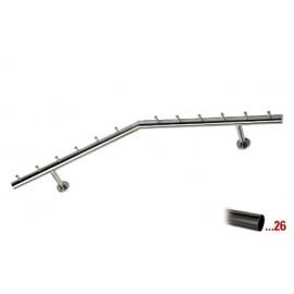 Antraciet design kapstok 750 mm Ø 38,1 mm, model 714