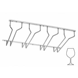 Chroom design glazenhouder 4 rails, L 300 mm